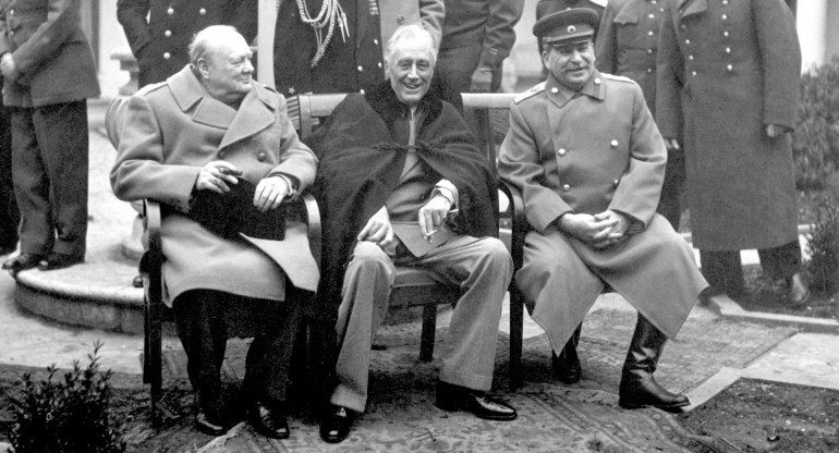 Conferencia de Yalta Churchill Roosevelt y Stalin