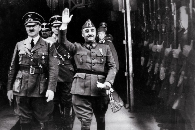 Francisco Franco y Adolf Hitler